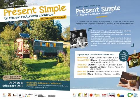 Décembre 2014 : avant-première du documentaire «Présent Simple» : toutes les dates