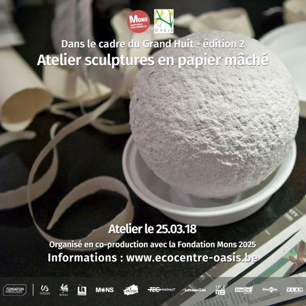 Atelier sculptures en papier mâché