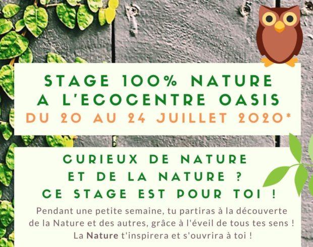 Stage d'été pour les curieux de (la) Nature !